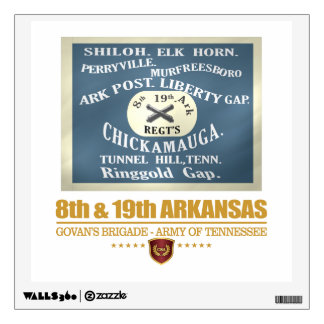 8th & 19th Arkansas Infantry (F10) Wall Decal