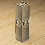 """8th,19th Wedding Anniversary Bronze Medallion Wine Box<br><div class=""""desc"""">The 8th and 19th wedding anniversary marked by the precious metal of bronze,  deserves a heart medallion on a lovely wine box. I am also available for custom illustrations specially and unique made for you,  just message me and I'll get right back!</div>"""