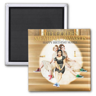 8th Annual Golden Meatball Award 2 Inch Square Magnet