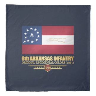 8th Arkansas Infantry (2) Duvet Cover