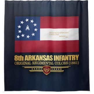 8th Arkansas Infantry (2) Shower Curtain