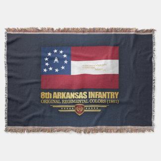 8th Arkansas Infantry (2) Throw Blanket