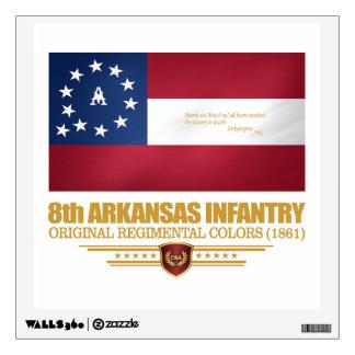 8th Arkansas Infantry (2) Wall Sticker