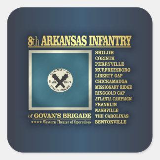 8th Arkansas Infantry (BA2) Square Sticker