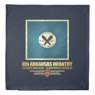 8th Arkansas Infantry Duvet Cover