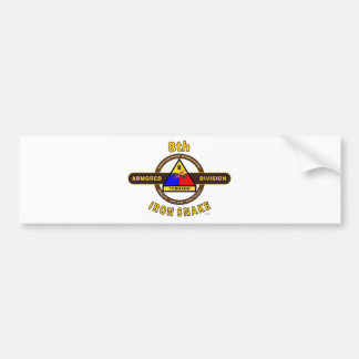 "8TH ARMORED DIVISION ""IRON SNAKE"" BUMPER STICKER"