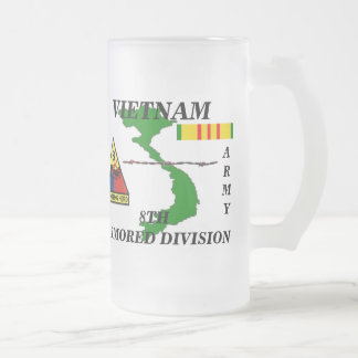 8th Armored Division Vietnam Frosted Mug