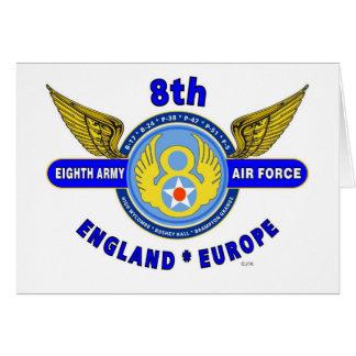 "8TH ARMY AIR FORCE ""ARMY AIR CORPS"" WW II GREETING CARD"