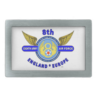 "8TH ARMY AIR FORCE ""ARMY AIR CORPS"" WW II RECTANGULAR BELT BUCKLE"