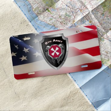 8th Army Customized Shield License Plate