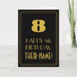 "[ Thumbnail: 8th Birthday – Art Deco Inspired Look ""8"" & Name Card ]"