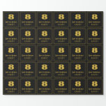 """[ Thumbnail: 8th Birthday – Art Deco Inspired Look """"8"""" & Name Wrapping Paper ]"""