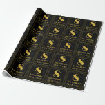 """[ Thumbnail: 8th Birthday ~ Art Deco Inspired Look """"8"""", Name Wrapping Paper ]"""