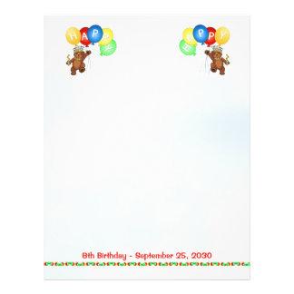 8th Birthday Bears Scrapbook Paper 1