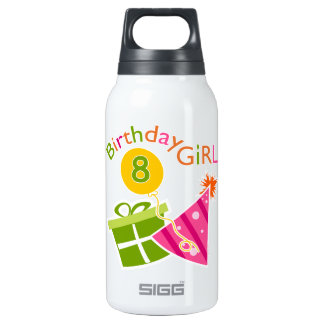 8th Birthday - Birthday Girl 10 Oz Insulated SIGG Thermos Water Bottle