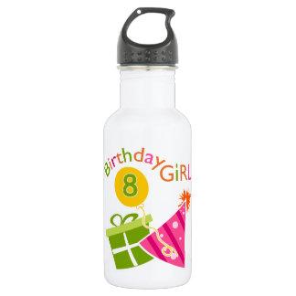 8th Birthday - Birthday Girl 18oz Water Bottle