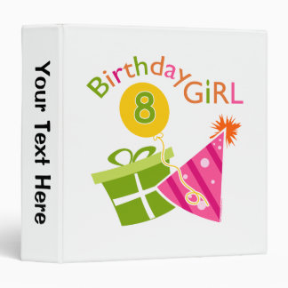 8th Birthday - Birthday Girl Binder