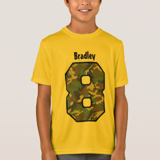 8th Birthday Boy Camo Eight Year Custom Name V03 T-Shirt