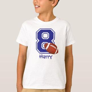 8th Birthday boy football personalized T-Shirt