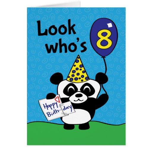 8th Birthday - Boy Panda with Balloon & Card   Zazzle Bad Sayings About Boys