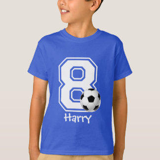 8th Birthday boy soccer personalized-2 T-Shirt