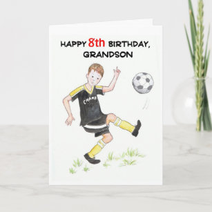 8th Birthday Card For A Grandson