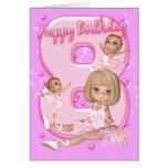 8th Birthday Card With Cute Ballerina
