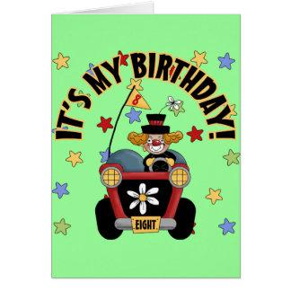 8th Birthday Clown Card