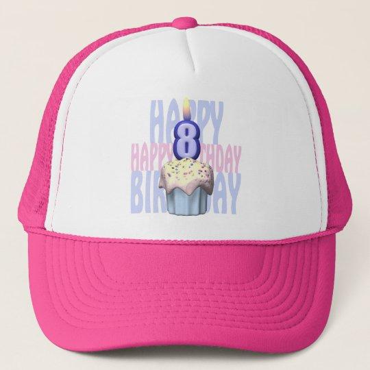 8th Birthday Cupcake Birthday Trucker Hat