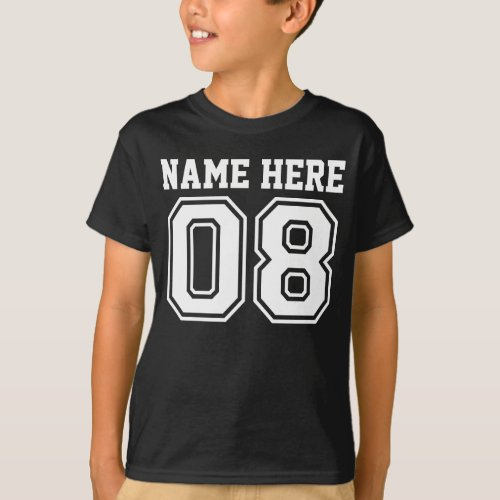 8th Birthday Customizable Kids Name T_Shirt