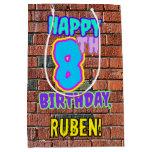 [ Thumbnail: 8th Birthday: Fun, Urban Graffiti Inspired Look Gift Bag ]