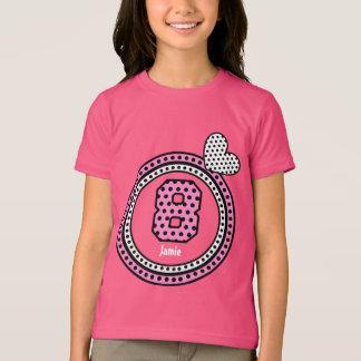 8th Birthday Gift Stars Heart Custom Name V12J T-Shirt
