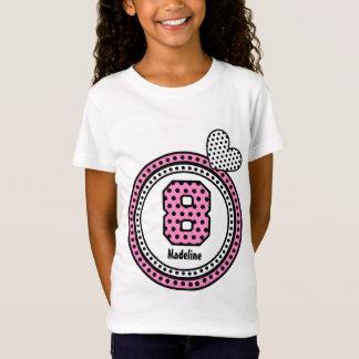 8th Birthday Gift Stars Heart Custom Name V1R T-Shirt