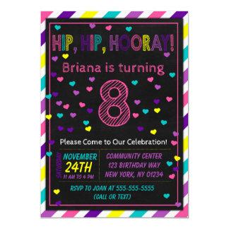 8th Birthday Invitation for a Girls Birthday Party