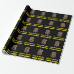 """[ Thumbnail: 8th Birthday: Name & Faux Wood Grain Pattern """"8"""" Wrapping Paper ]"""