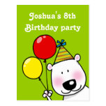 8th birthday party personalized invitations post cards