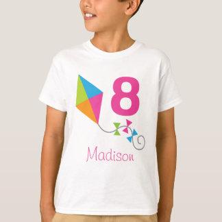 8th Birthday Personalized Kite Design Party Tshirt