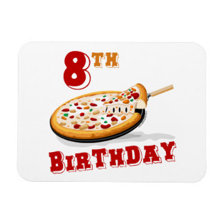8th Birthday Pizza party Magnet