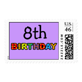 8th birthday postage stamps