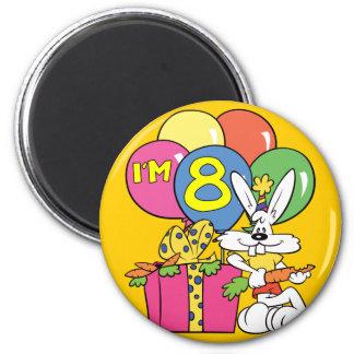 8th Birthday Rabbit Magnet