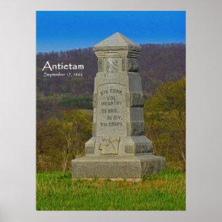 8th Connecticut Volunteer Infantry at Antietam Poster