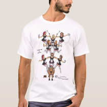 8th Day of Christmas (8 Maids a-Milking) T Shirt