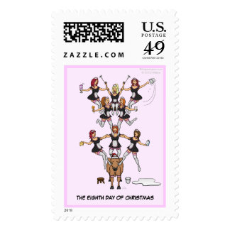 8th Day of Christmas (Eight Maids) Postage Stamp