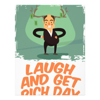 8th February - Laugh And Get Rich Day Letterhead