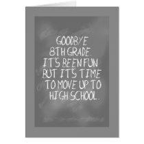 8th Grade Graduation with Slate Design Card