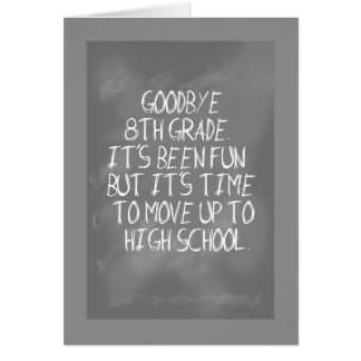 8th Grade Graduation with Slate Design Card
