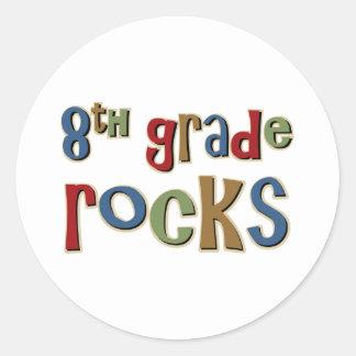8th Grade Rocks Eighth Classic Round Sticker