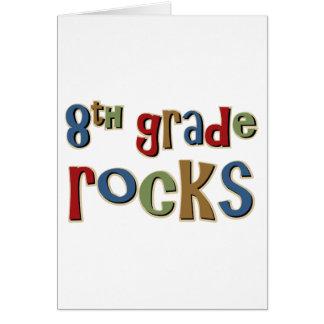 8th Grade Rocks Eighth Greeting Card