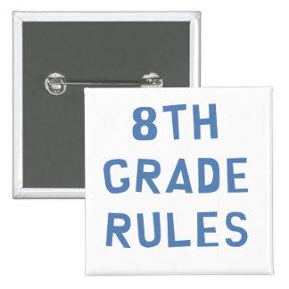 8th Grade Rules Pinback Button