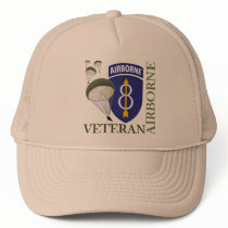 8th Infantry Division Airborne Trucker Hat